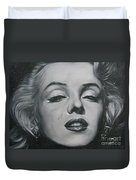 Close Up Marilyn Duvet Cover