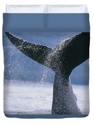 Close Up Of A Humpback Whale Fluke In Duvet Cover