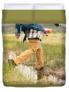 Close-up Of A Male Hiker Duvet Cover