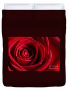 Close Up Of A Red Rose Duvet Cover