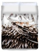 Close Up Of Heap Of Silver Forks Duvet Cover