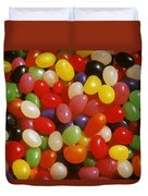 Close Up Of Jelly Beans Duvet Cover