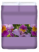 Close-up Of Purple Orchid Flowers Duvet Cover