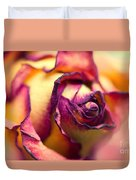 Close Up Of The Dry Rose Duvet Cover