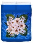 Close Up Of White Daisy Bouquet Duvet Cover