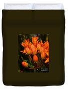 Close-up Of Wildflower Buds Duvet Cover