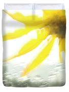 Close-up Of Yellow Wildflower In Grand Duvet Cover