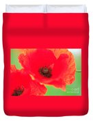 Close Up Poppies Duvet Cover