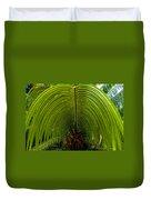 Closeup Of A Palm Tree Leaf Duvet Cover