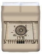 Closeup Of Assisi Cathedral Duvet Cover