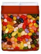 Closeup Of Assorted Jellybeans  Duvet Cover