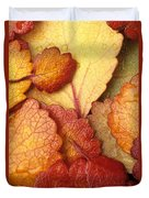 Closeup Of Dwarf Birch Leaves Autumn Ar Duvet Cover