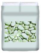 Closeup Of Fresh Fava Beans Duvet Cover
