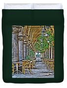 Cloth Hall Cafe In Krakow Duvet Cover