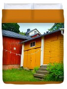 Clothesline In Porvoo In Finland Duvet Cover