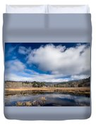 Cloud Above Dry Lagoon Duvet Cover