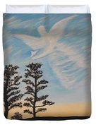 Cloud Angel In Acryics Duvet Cover