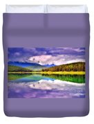 Cloud Cover On Lake Patricia Duvet Cover