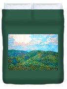 Cloud Dance On The Blue Ridge Duvet Cover