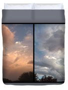 Cloud Diptych Duvet Cover