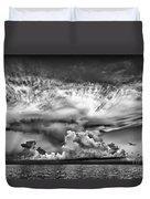 Cloud In Black And White Duvet Cover