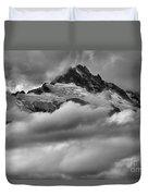 Cloud Rush Over Tantalus Duvet Cover