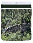 Cloudcroft Railroad Trestle Duvet Cover