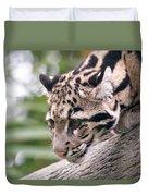Clouded Leopard Cub Duvet Cover