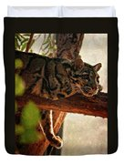 Clouded Leopard II Painted Version Duvet Cover