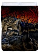 Clouded Leopard Two Duvet Cover
