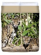 Clouded Leopards Duvet Cover