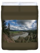 Clouds Above Eel River Duvet Cover