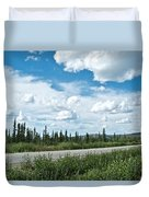 Clouds Above Taylor Highway To Chicken-ak Duvet Cover