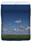 Clouds And Landscape In Alberta Canada Duvet Cover