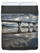 Clouds And Reflections Over Lake Champlain Duvet Cover