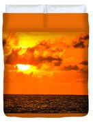 Clouds And Sun Play  Duvet Cover