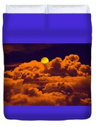 Clouds And The Moon Duvet Cover