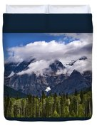 Clouds Around Mountains, Robson Duvet Cover