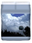 Clouds Around The Water Tower Duvet Cover