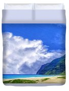 Clouds At Polihale Duvet Cover