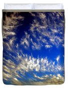 Clouds At Sunset Duvet Cover