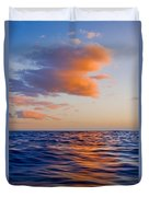 Clouds At Sunset - Racing Across The Water At Sunset Duvet Cover
