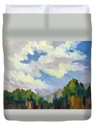 Clouds At Thousand Palms Duvet Cover