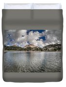 Clouds Form Over Lake Helen Duvet Cover