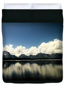 Clouds In The Grand Tetons Duvet Cover