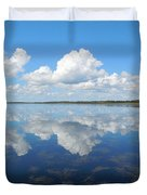 Clouds In The Lake Duvet Cover