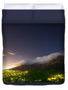 Clouds Loom Over Table Mountain In Cape Duvet Cover