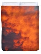 Clouds Of Fire Duvet Cover