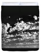 Clouds Of Freycinet Bw Duvet Cover