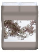 Clouds Of Soft Pink Blossoms - A Tribute To Spring Duvet Cover